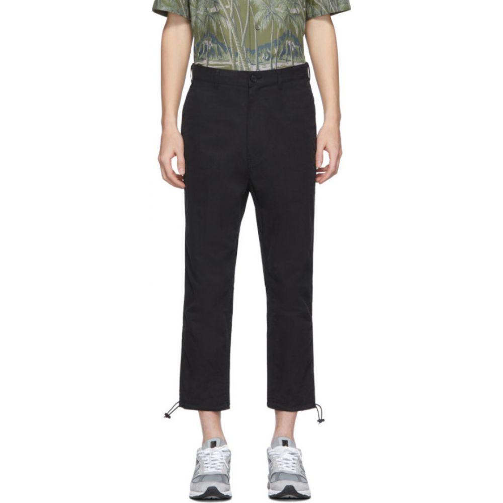 コム デ ギャルソン Comme des Garcons Homme メンズ ボトムス・パンツ 【Black Ripstop Peach Trousers】Black