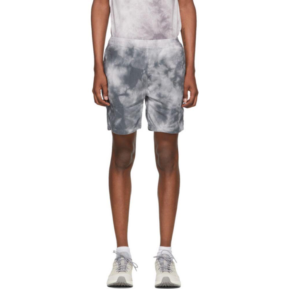 レミレリーフ Remi Relief メンズ ショートパンツ ボトムス・パンツ【Grey Flannel Tie-Dye Easy Shorts】Charcoal