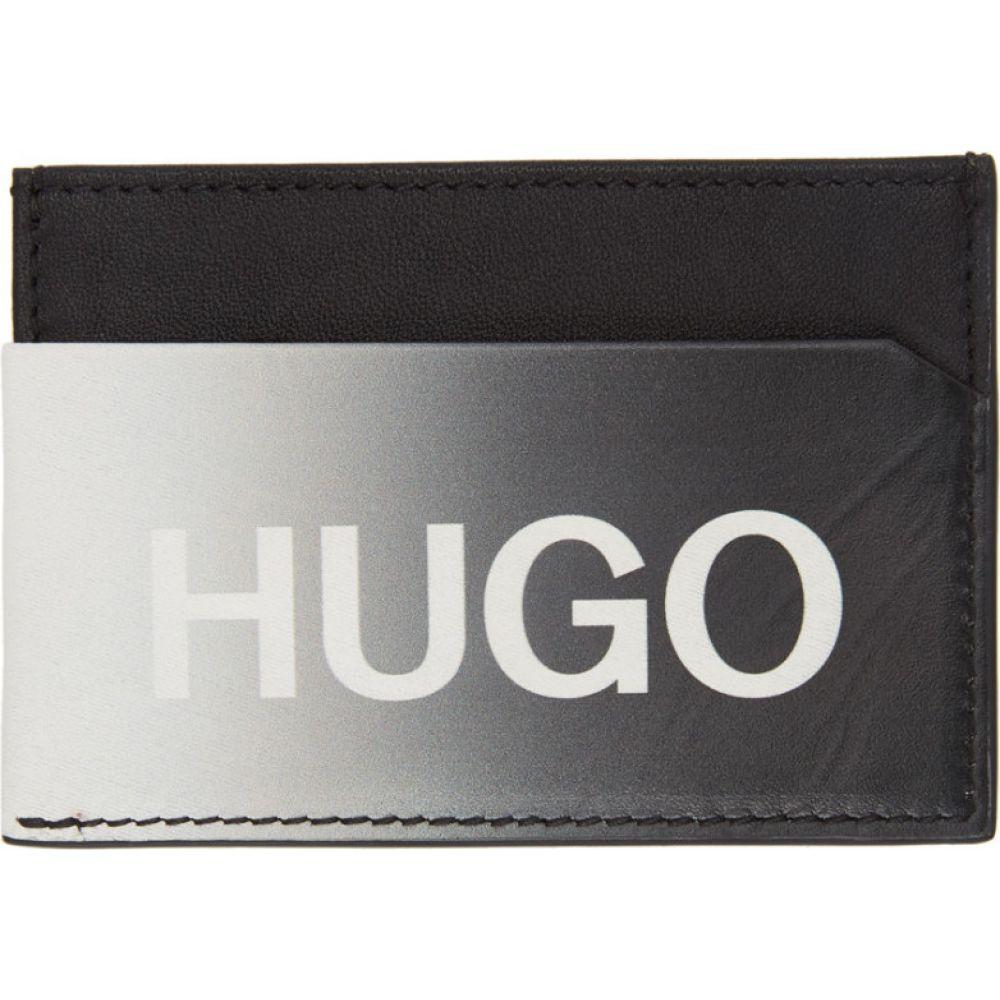 ヒューゴ ボス Hugo メンズ カードケース・名刺入れ カードホルダー【Black Achromatic Card Holder】Black