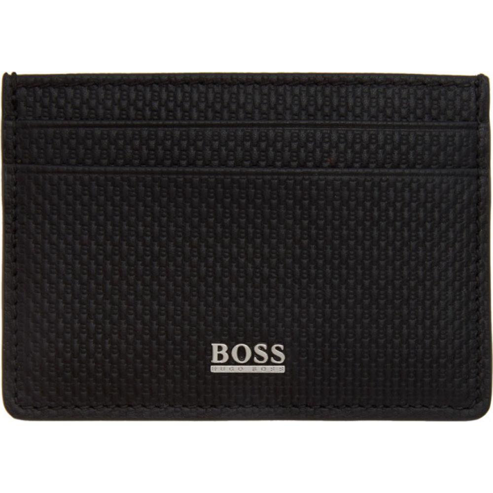 ヒューゴ ボス Boss メンズ カードケース・名刺入れ カードホルダー【Black Monogram Card Holder】Black