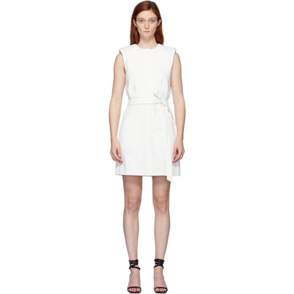 ティビ Tibi レディース ワンピース ワンピース・ドレス【White Chalky Drape Dress】White