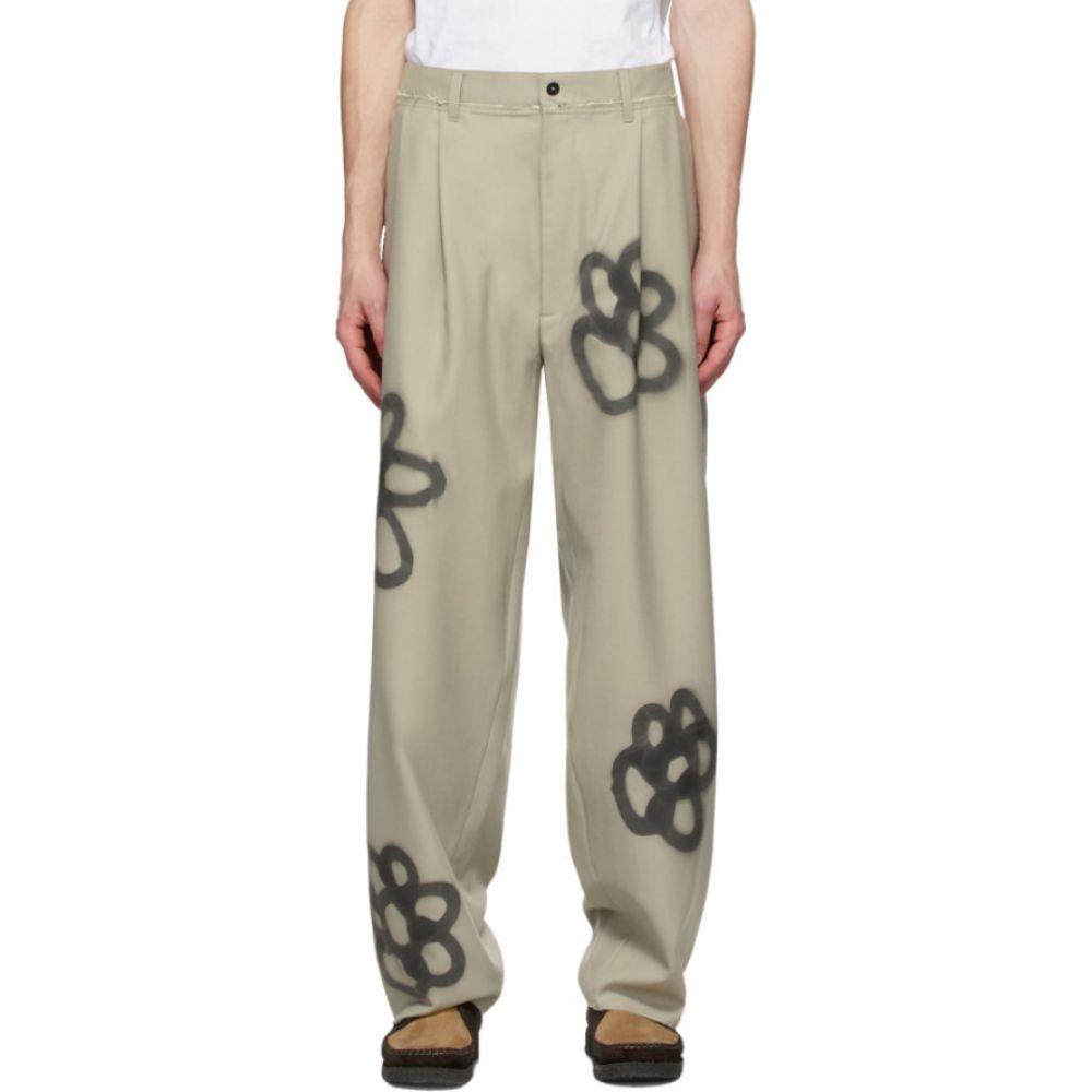 カミエル フォートへンス Camiel Fortgens メンズ スラックス ボトムス・パンツ【SSENSE Exclusive Beige Sprayed Suit Trousers】Khaki spray