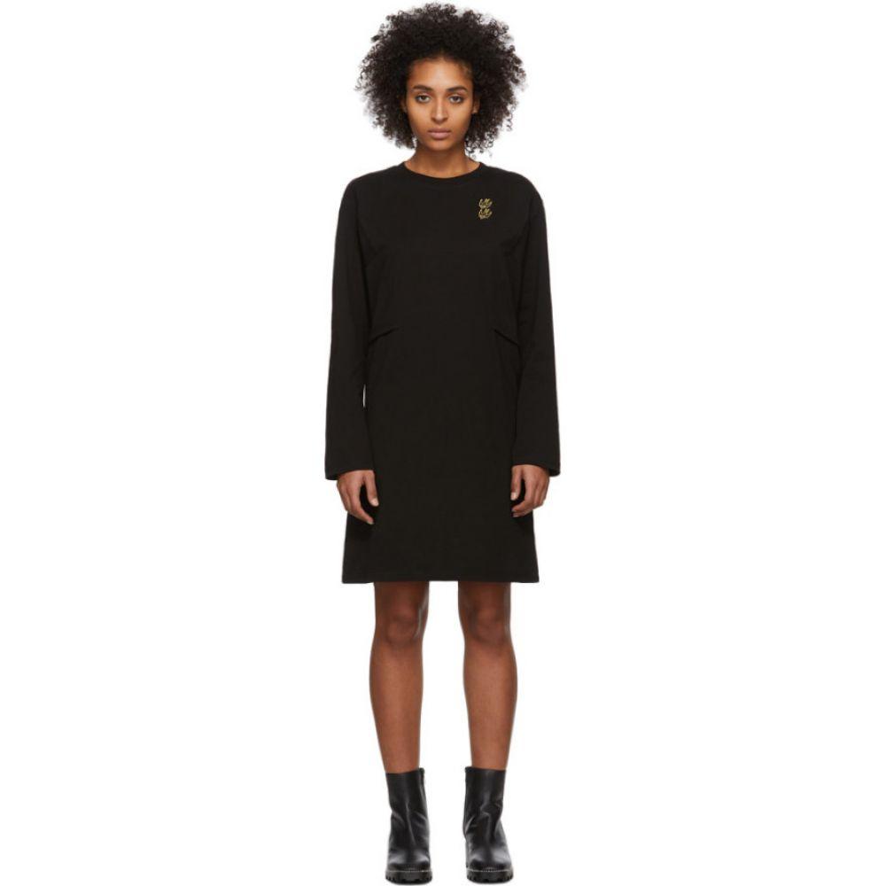 アレキサンダー マックイーン McQ Alexander McQueen レディース ワンピース ワンピース・ドレス【Black Shizoku Sweat Dress】Dark black