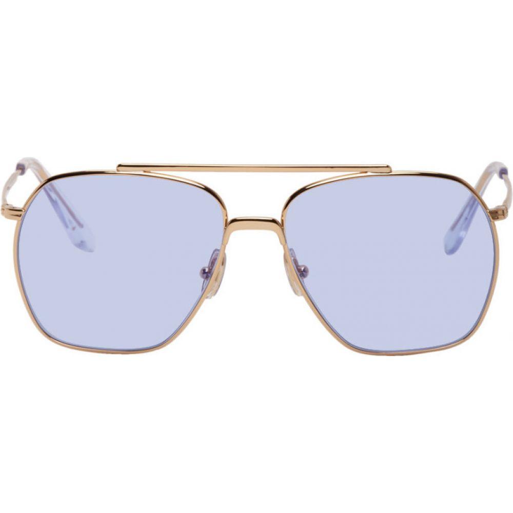 アクネ ストゥディオズ Acne Studios メンズ メガネ・サングラス 【Gold Anteom Sunglasses】Gold/Blue