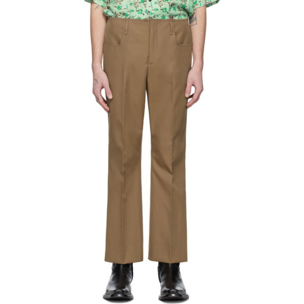 アクネ ストゥディオズ Acne Studios メンズ ボトムス・パンツ ブーツカット【Brown Twill Bootcut Trousers】Mushroom beige