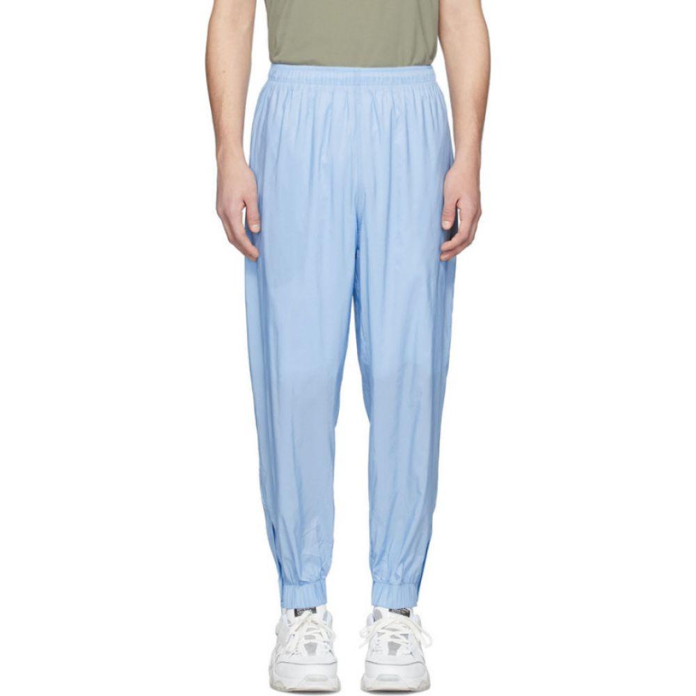 マーティン アスビヨルン Martin Asbjorn メンズ スウェット・ジャージ ボトムス・パンツ【Blue Nylon Lounge Pants】Baby blue