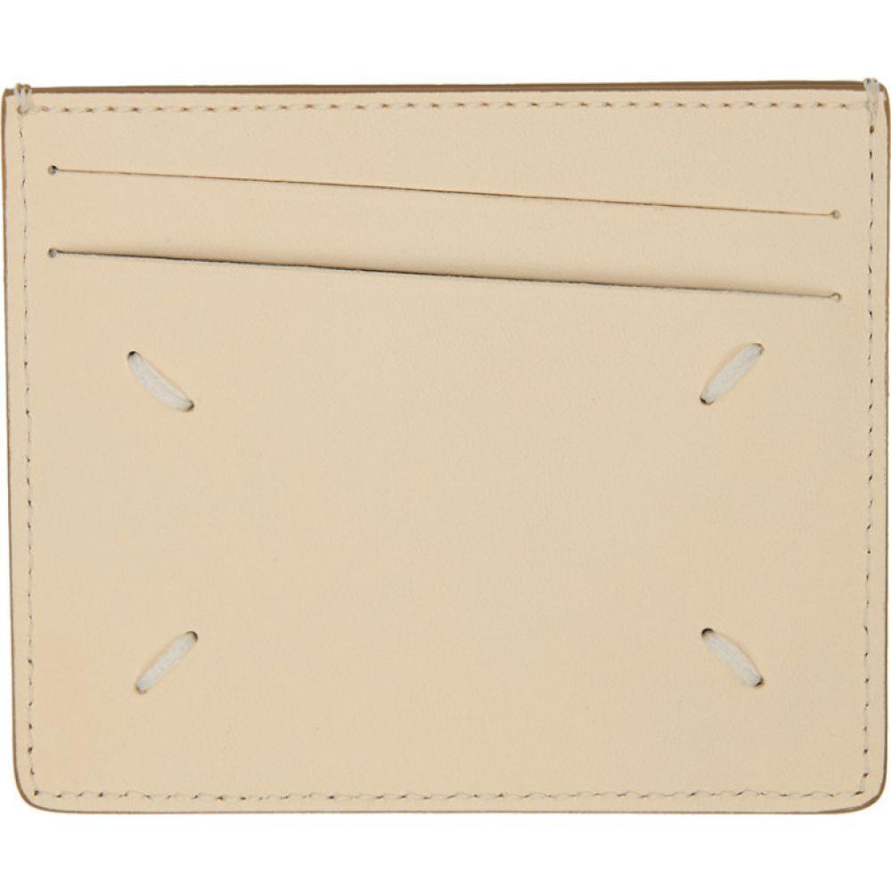 メゾン マルジェラ Maison Margiela メンズ カードケース・名刺入れ カードホルダー【Beige Bicolor Classic Card Holder】Oxford