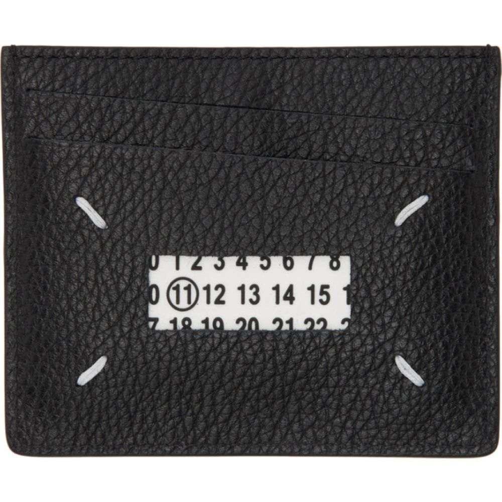 メゾン マルジェラ Maison Margiela メンズ カードケース・名刺入れ カードホルダー【Black & Transparent Card Holder】Black