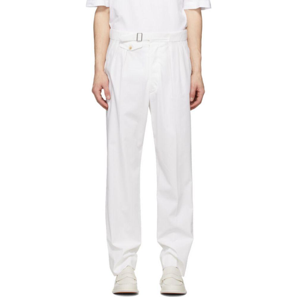 メゾン マルジェラ Maison Margiela メンズ ボトムス・パンツ 【White Cotton Straight Trousers】White