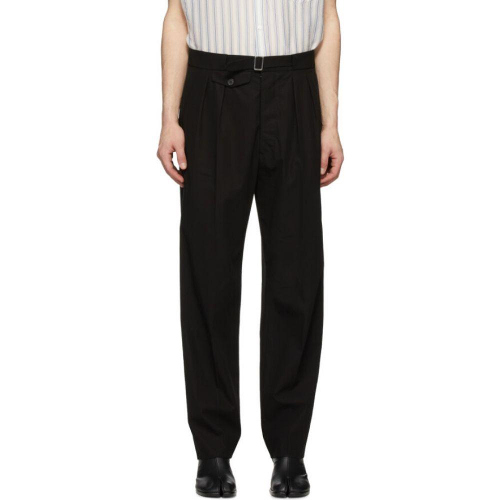 メゾン マルジェラ Maison Margiela メンズ ボトムス・パンツ 【Black Cotton Pleated Trousers】Black