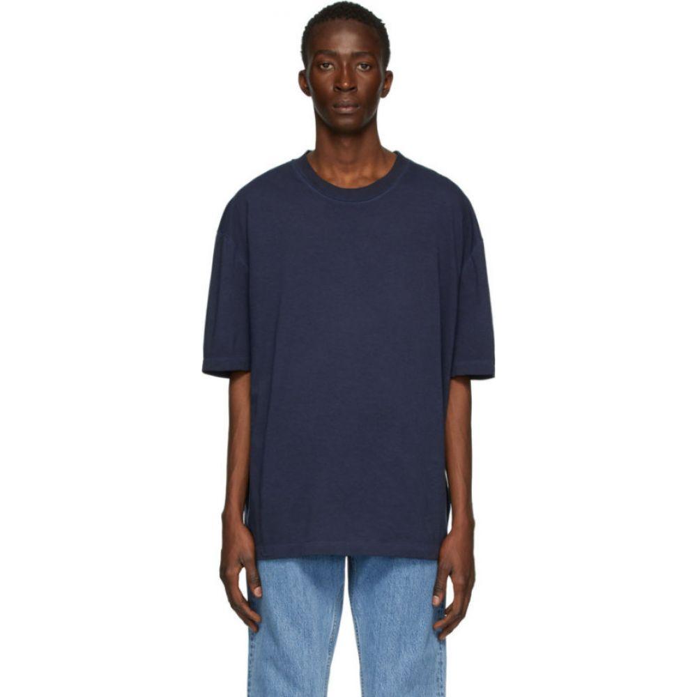 メゾン マルジェラ Maison Margiela メンズ Tシャツ トップス【Navy Cotton T-Shirt】Navy