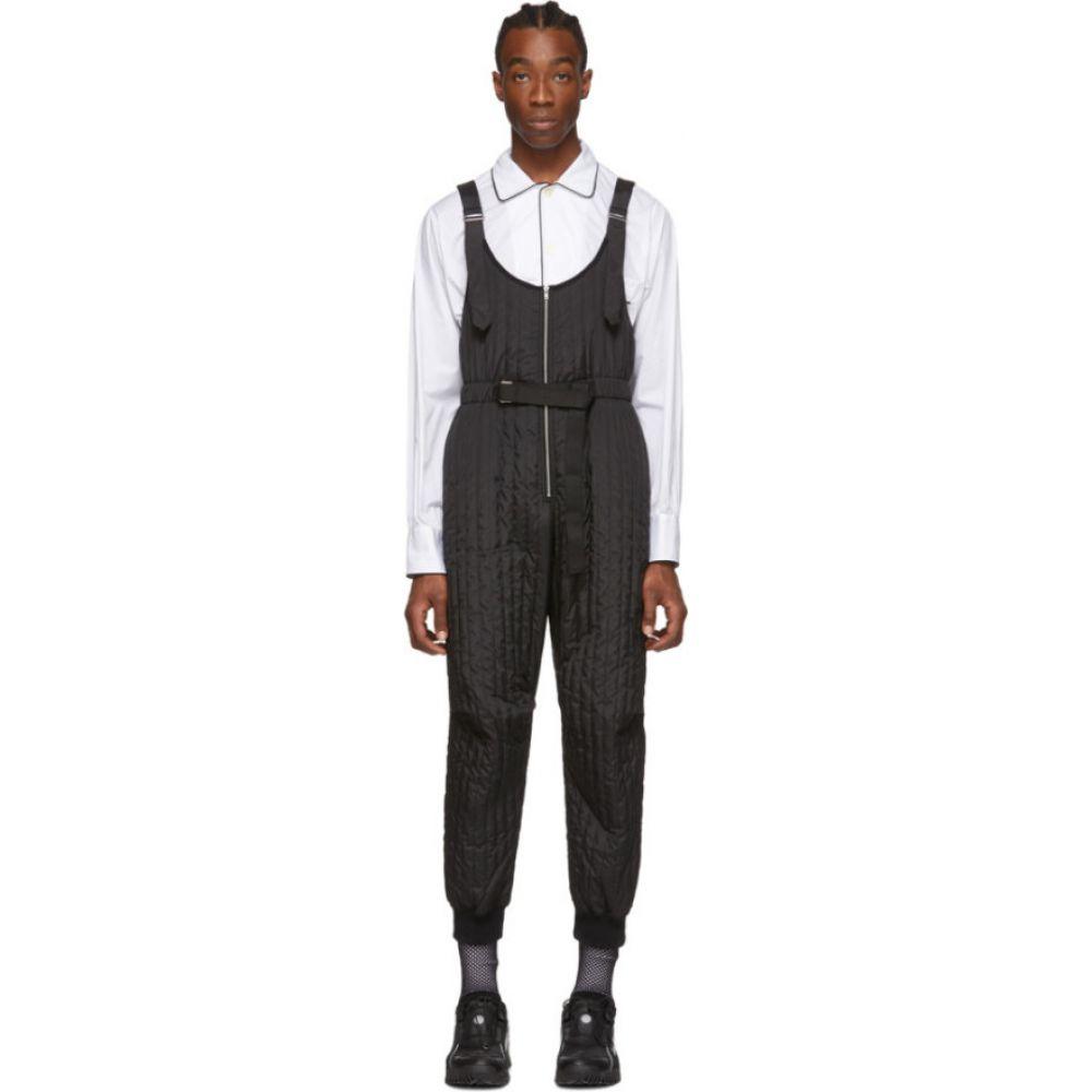 ランダム アイデンティティーズ Random Identities メンズ ツナギ・オールインワン ジャンプスーツ トップス【Black Quilted Jumpsuit】Black