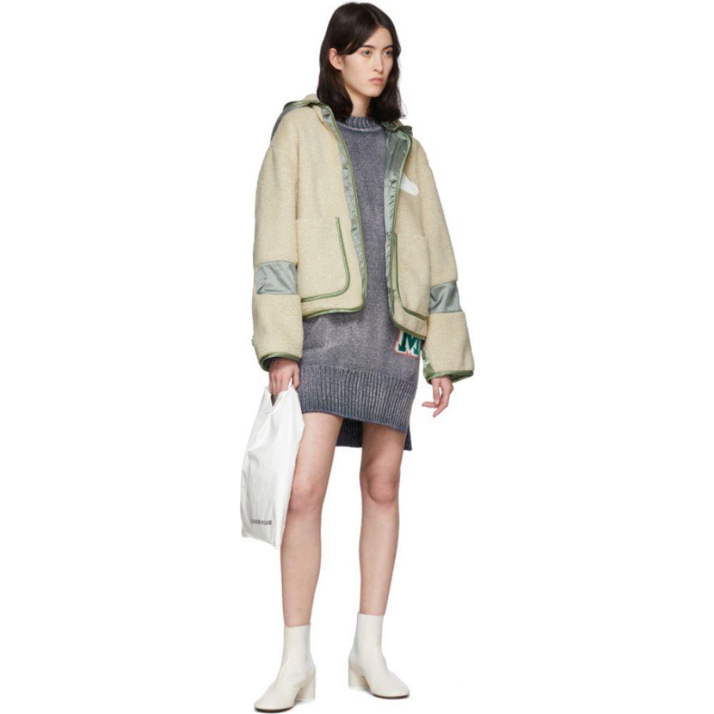 メゾン マルジェラ MM6 Maison Margiela レディース フリース トップス BeigeKhaki Sherpa Fleece Jacket Beigewk8nOP0