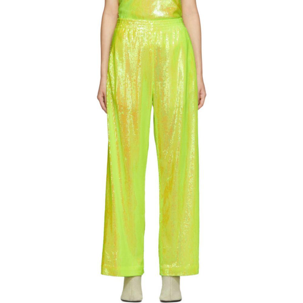 メゾン マルジェラ MM6 Maison Margiela レディース スウェット・ジャージ ボトムス・パンツ【Yellow Sequin Flare Lounge Pants】Yellow