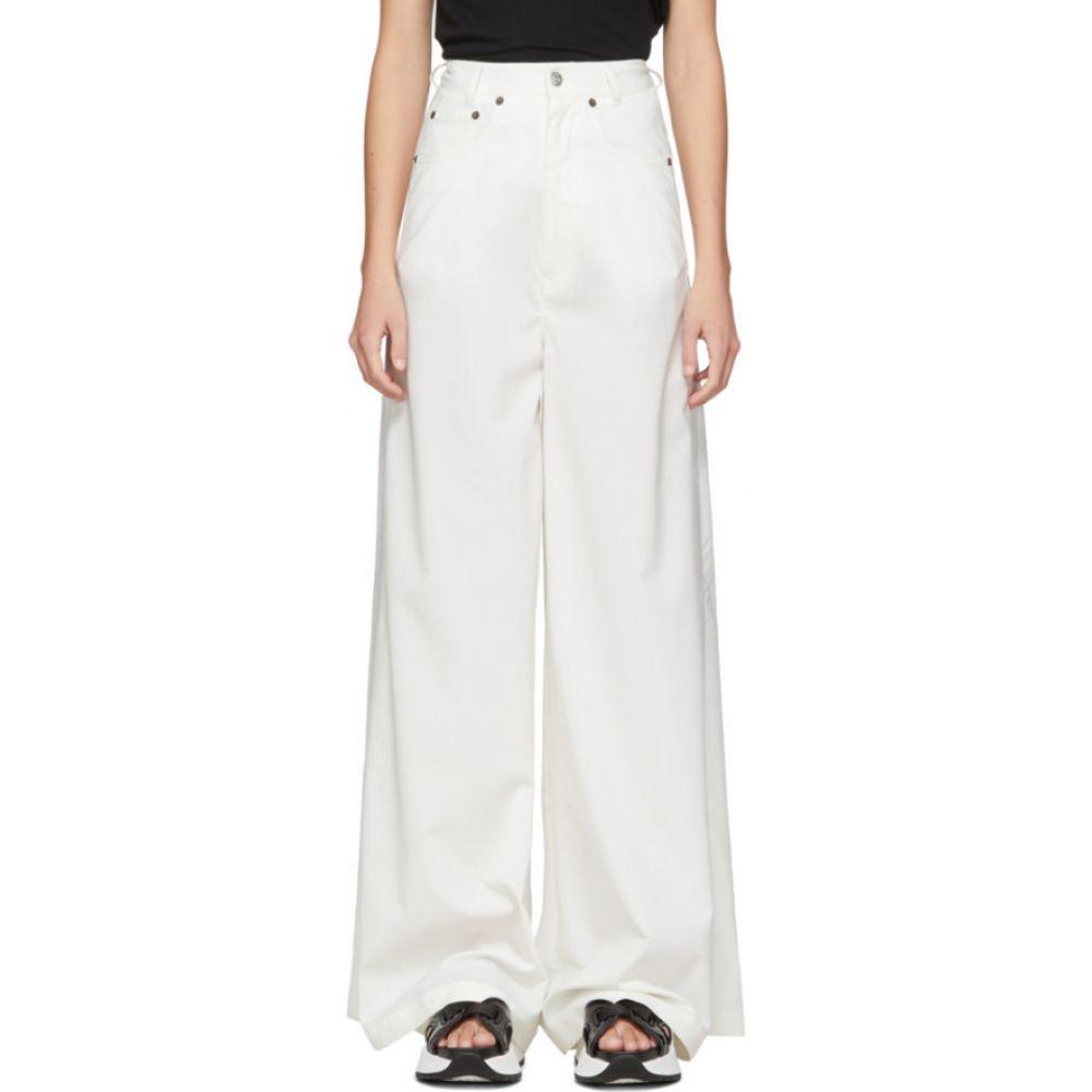 メゾン マルジェラ MM6 Maison Margiela レディース ボトムス・パンツ 【Off-White Wide-Leg Trousers】Off-White