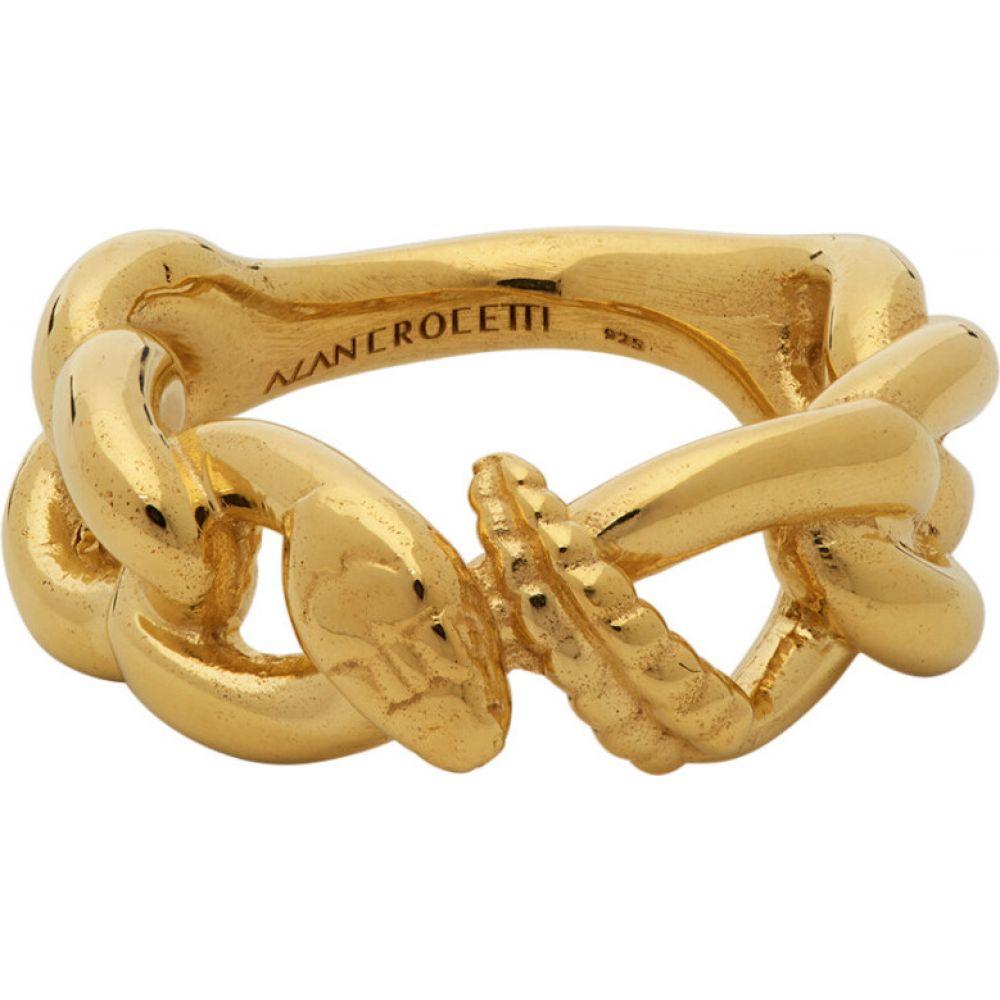 アラン クロセッティ Alan Crocetti メンズ 指輪・リング ジュエリー・アクセサリー【Gold Nashash Ring】Gold