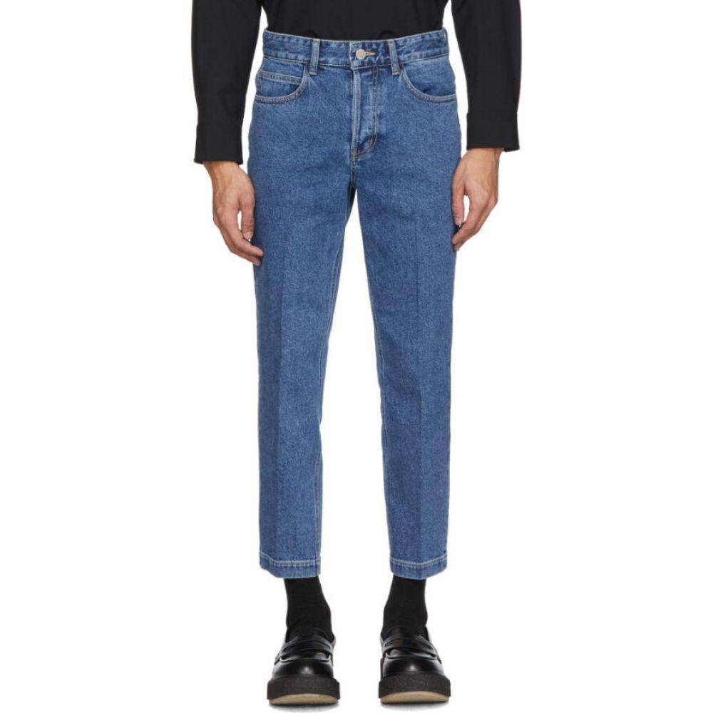 ソリッドオム Solid Homme メンズ ジーンズ・デニム ボトムス・パンツ【Blue Cropped Jeans】Blue