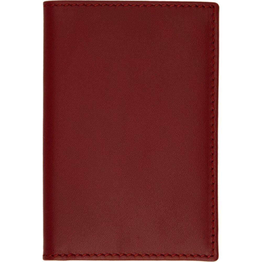 コム デ ギャルソン Comme des Garcons Wallets メンズ カードケース・名刺入れ 二つ折り カードホルダー【Red Classic Foldover Bifold Card Holder】Red