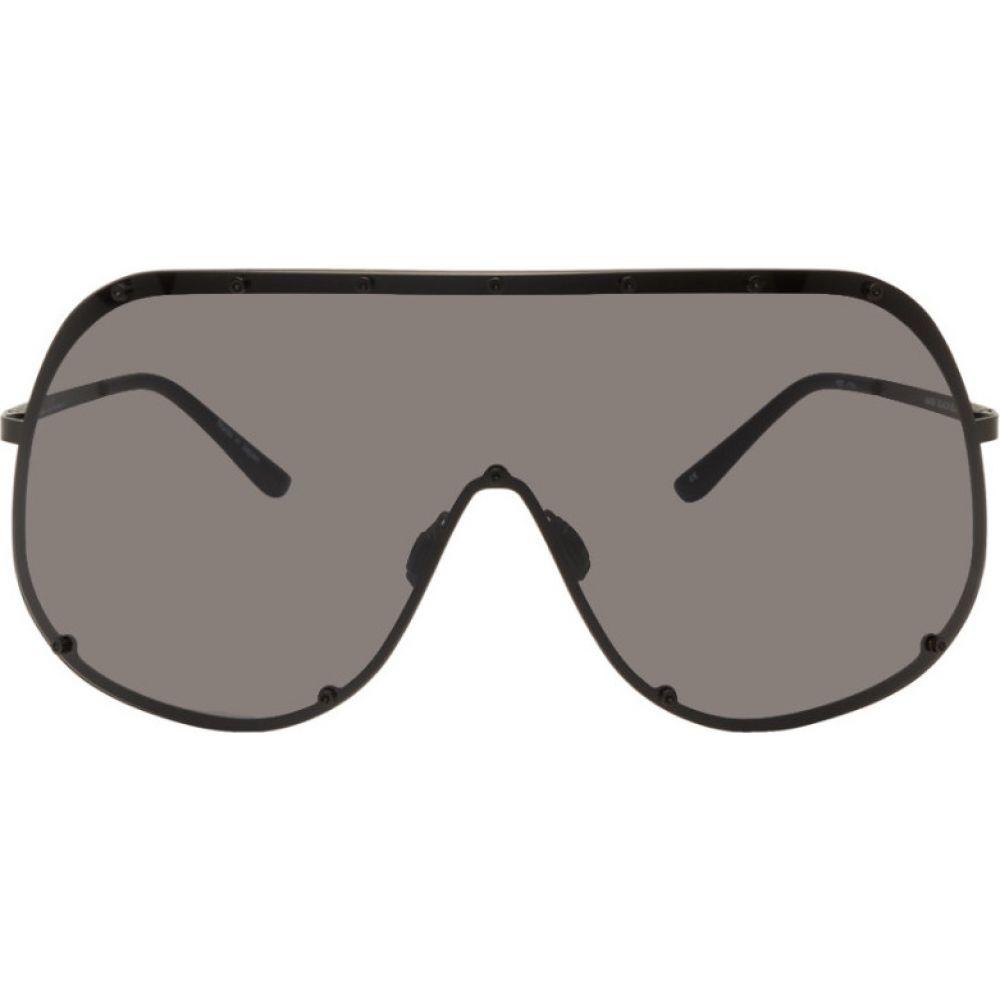 リック オウエンス Rick Owens メンズ メガネ・サングラス 【Black Shield Sunglasses】Black