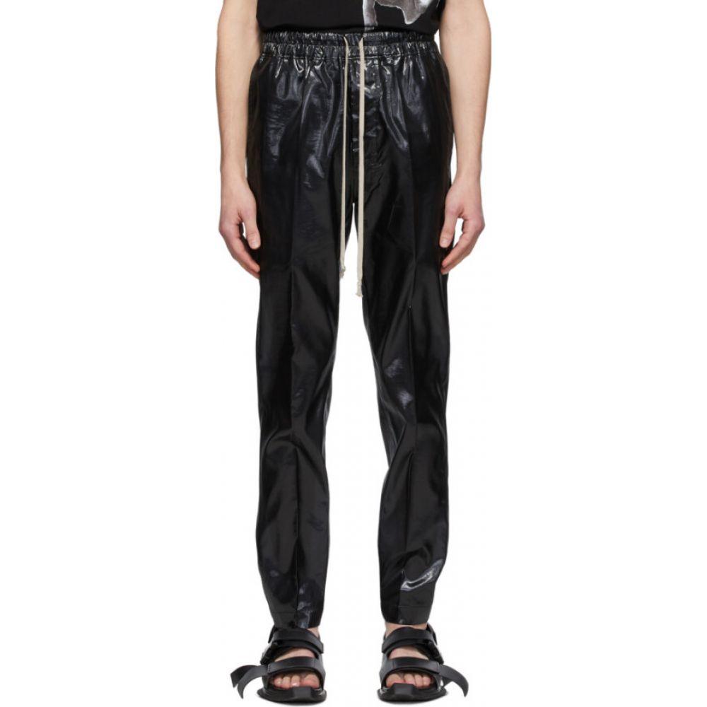 リック オウエンス Rick Owens メンズ スキニー・スリム ボトムス・パンツ【Black Silk Drawstring Slim Astaires Trousers】Black