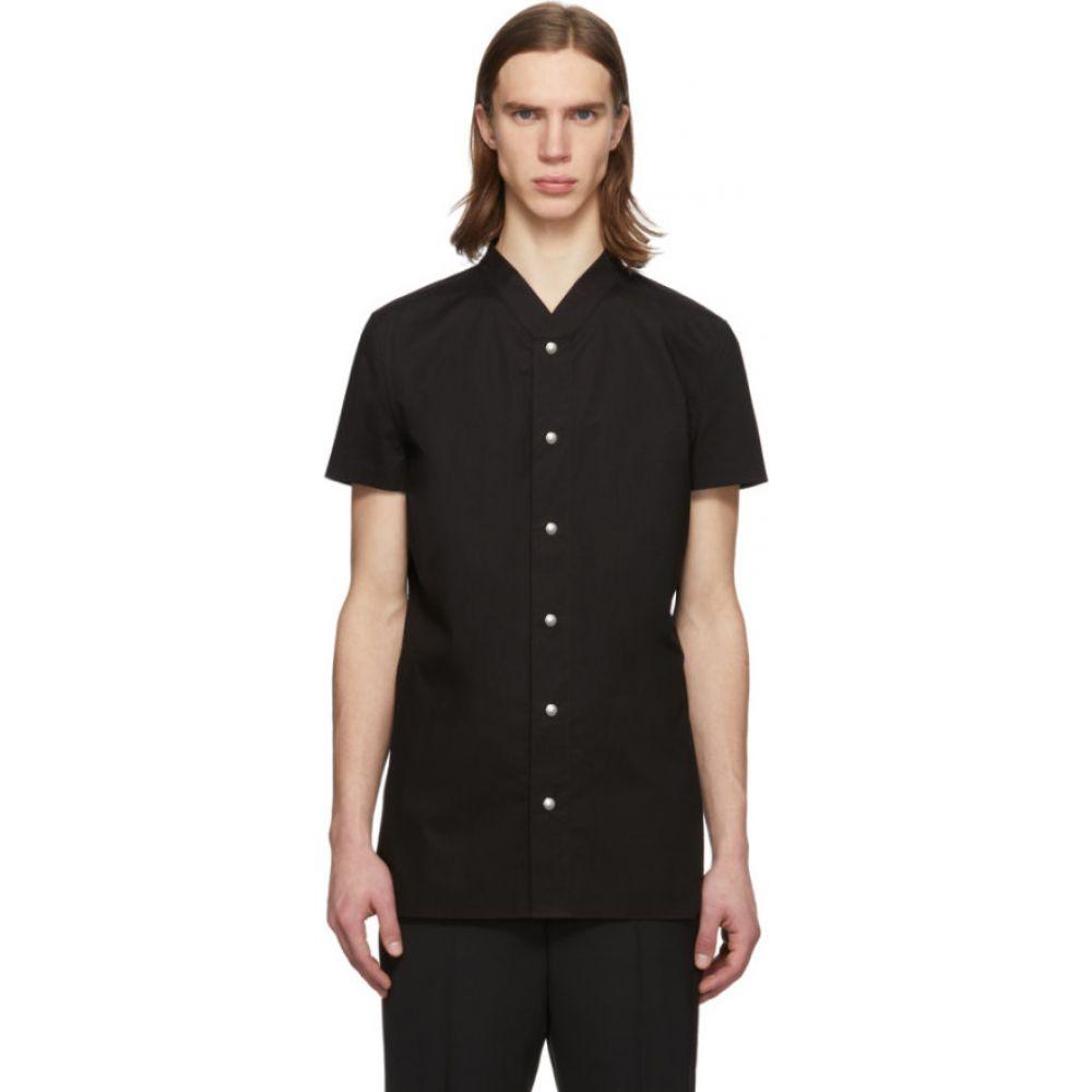 リック オウエンス Rick Owens メンズ トップス 【Black Golf Shirt】Black