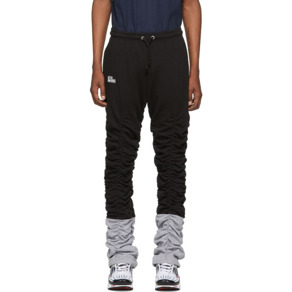 アフターホームワーク Afterhomework メンズ スウェット・ジャージ ボトムス・パンツ【Black & Grey Gathered Jogging Lounge Pants】Black/Grey