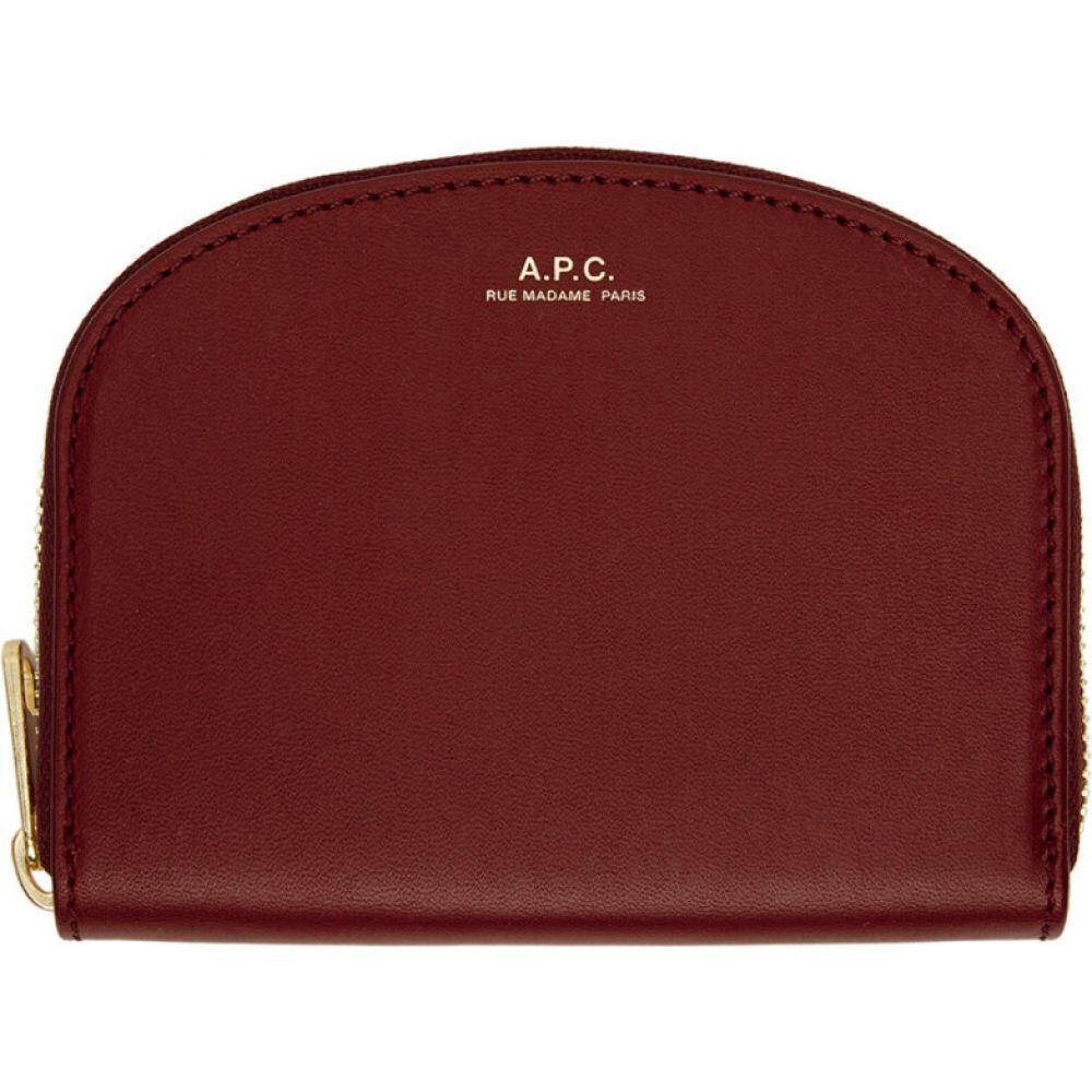 アーペーセー A.P.C. レディース 財布 【Red Compact Demi-Lune Wallet】Rouge