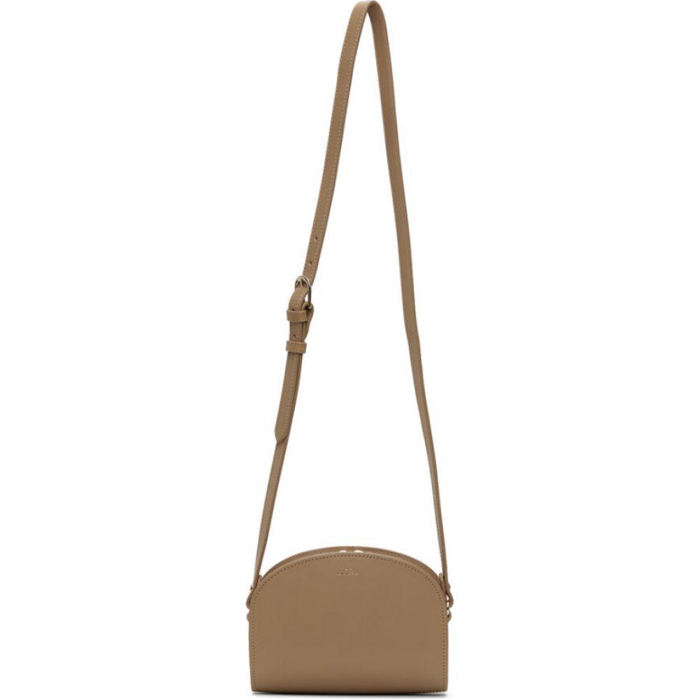 アーペーセー A.P.C. レディース ショルダーバッグ バッグ【Tan Mini Demi-Lune Bag】Sand