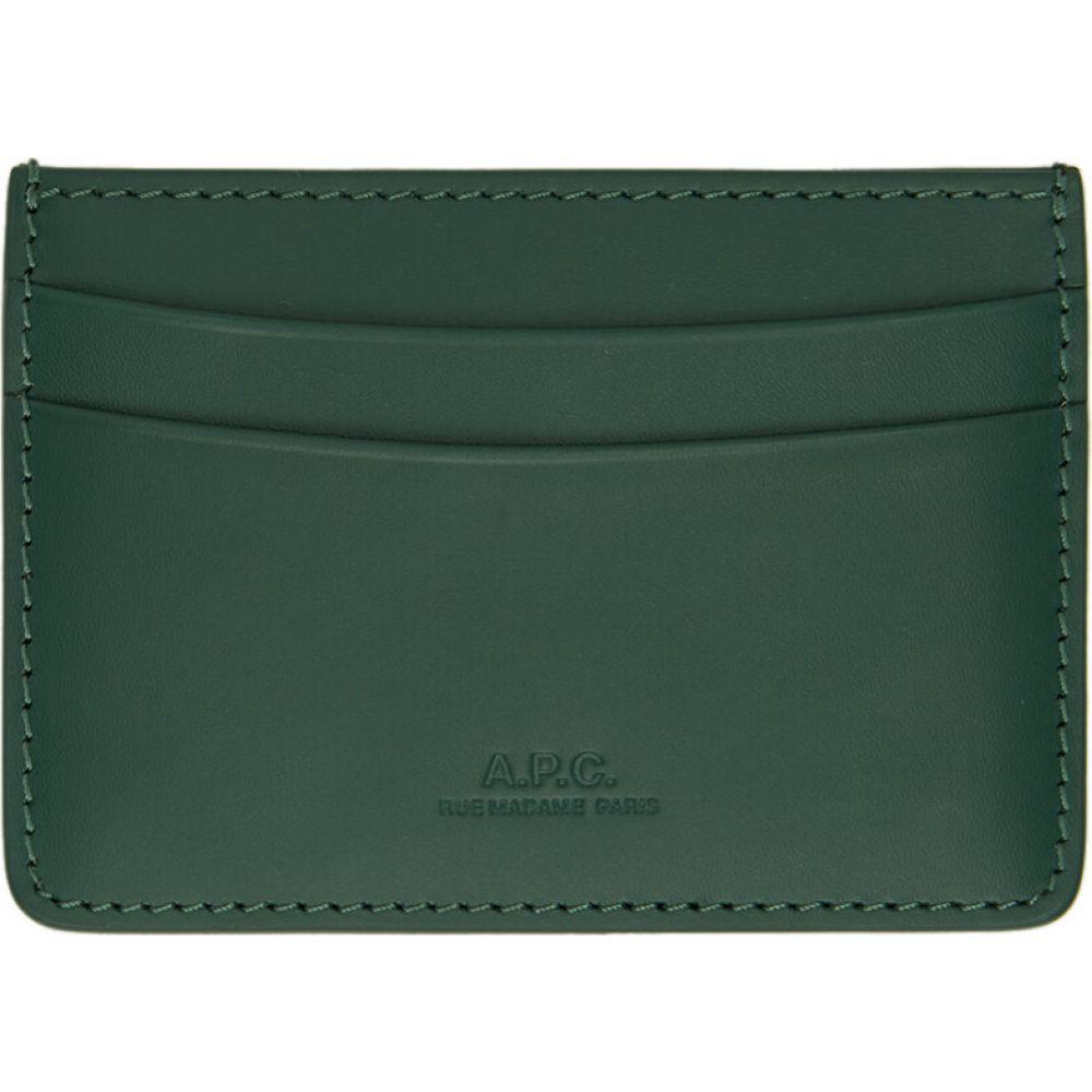 アーペーセー A.P.C. メンズ カードケース・名刺入れ カードホルダー【Green Andre Card Holder】Green