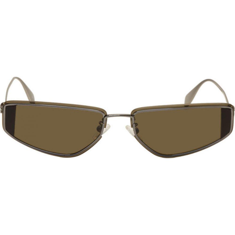 アレキサンダー マックイーン Alexander McQueen メンズ メガネ・サングラス 【Gunmetal Skull Sunglasses】Black
