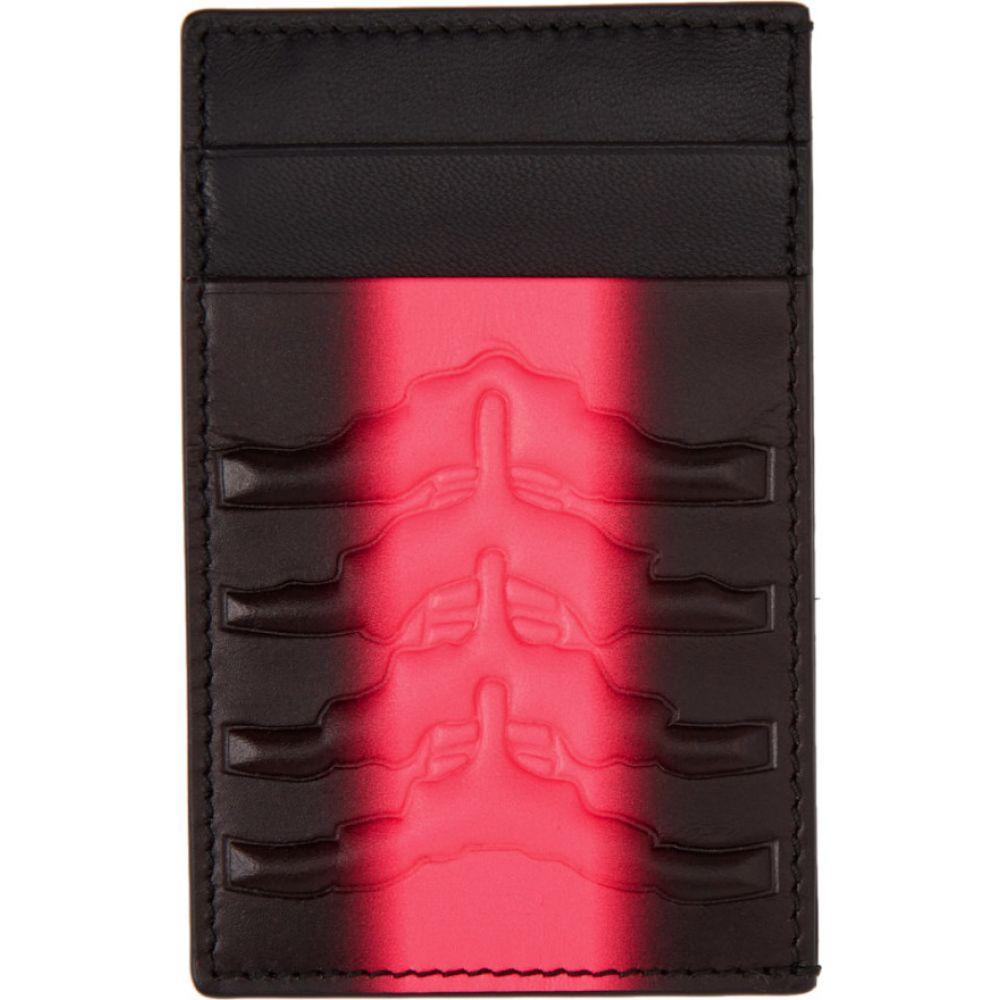 アレキサンダー マックイーン Alexander McQueen メンズ カードケース・名刺入れ カードホルダー【Black & Pink Rib Cage Card Holder】Black/Fuchsia
