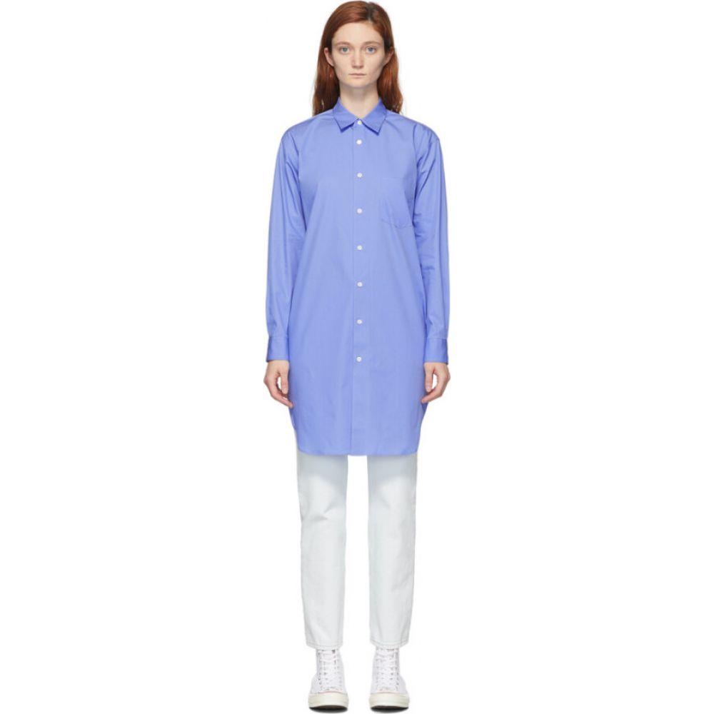 コム デ ギャルソン Comme des Garcons Shirt レディース ブラウス・シャツ トップス【Blue Long Front Shirt】Blue