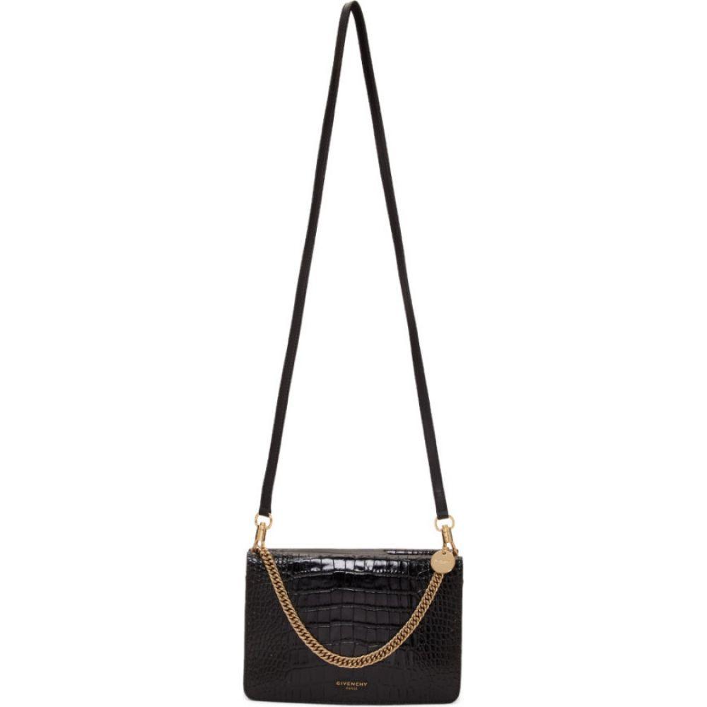 ジバンシー Givenchy レディース ショルダーバッグ バッグ【Black Croc GV3 Bag】Black