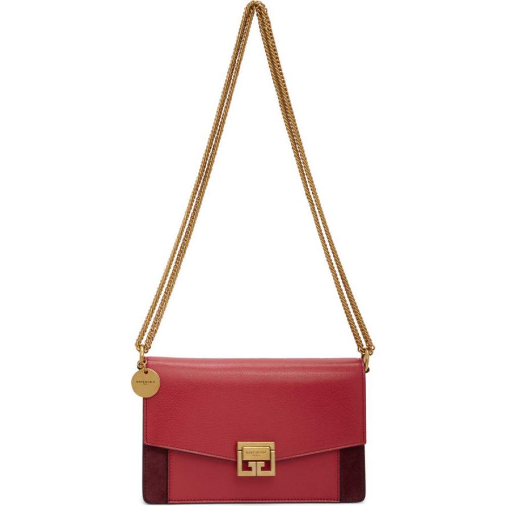 ジバンシー Givenchy レディース ショルダーバッグ バッグ【Pink & Burgundy Mini GV3 Bag】Strawberry red/Pink