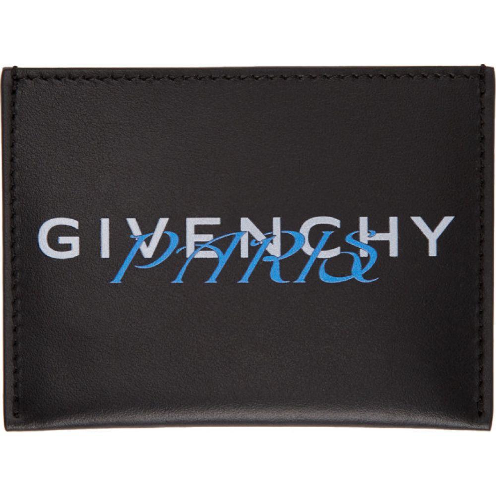ジバンシー Givenchy メンズ カードケース・名刺入れ カードホルダー【Black & Blue 'Paris' Card Holder】Black/Blue
