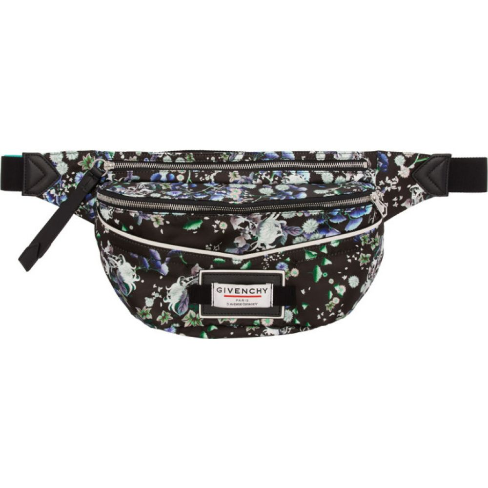ジバンシー Givenchy メンズ ボディバッグ・ウエストポーチ バッグ【Black Flower Print Downtown Bum Bag】Multicolor
