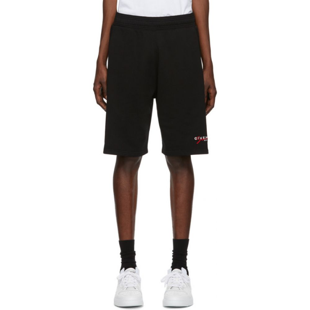 ジバンシー Givenchy メンズ ショートパンツ ボトムス・パンツ【Black Signature Shorts】Black/Red