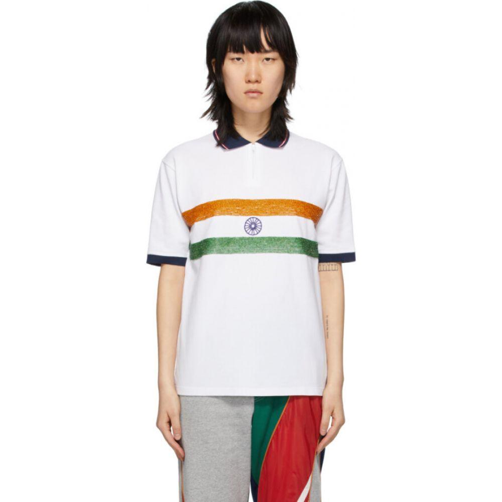 アルワリア Ahluwalia レディース ポロシャツ トップス【White India Polo】White