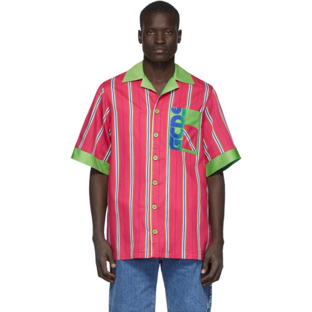 ジーシーディーエス GCDS メンズ シャツ トップス【Pink Double Stripe Shirt】Fuxia