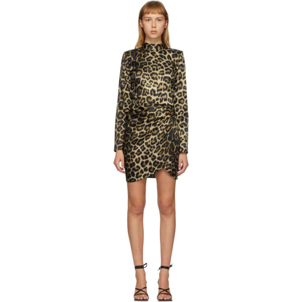 ゲージ81 Gauge81 レディース ワンピース ワンピース・ドレス【Black & Beige Osaka Short Dress】Leopard