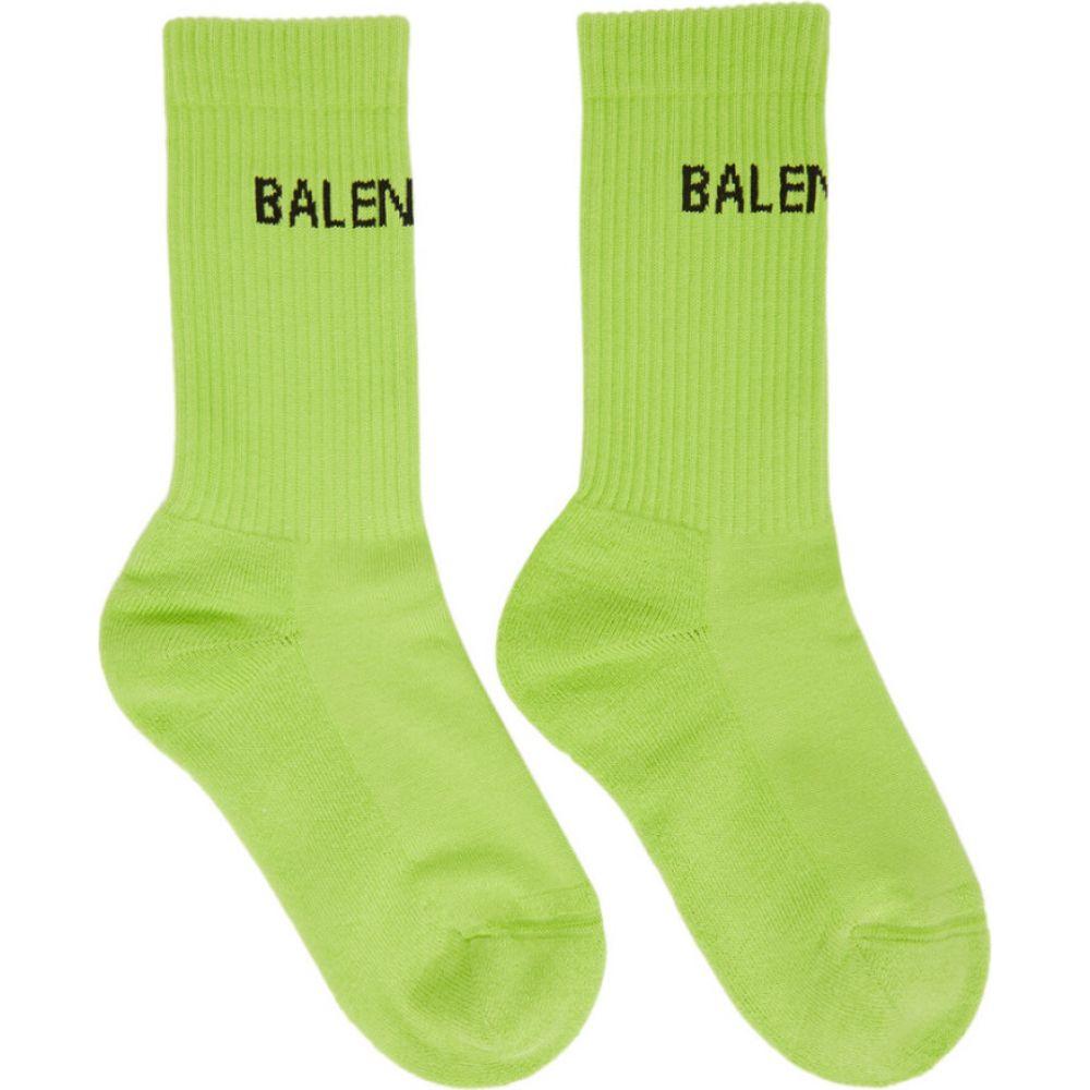 バレンシアガ Balenciaga レディース ソックス インナー・下着【Yellow Tennis Socks】Lemon