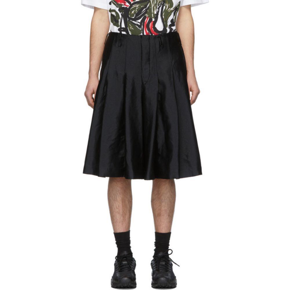 コム デ ギャルソン Comme des Garcons Homme Plus メンズ ショートパンツ ボトムス・パンツ【Black Garment-Treated Pleated Shorts】Black