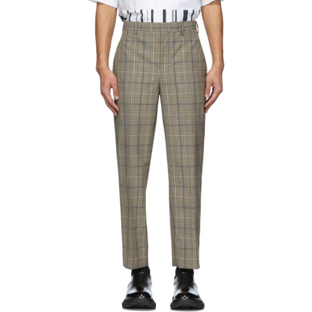 ニール バレット Neil Barrett メンズ ボトムス・パンツ 【Beige & Black Check Suiting Trousers】Biscuit/Black