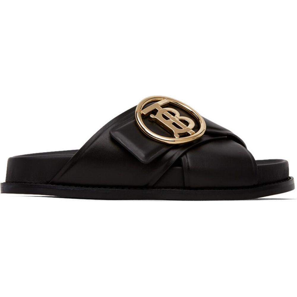 バーバリー Burberry レディース サンダル・ミュール シューズ・靴【Black Monogram Sandals】Black