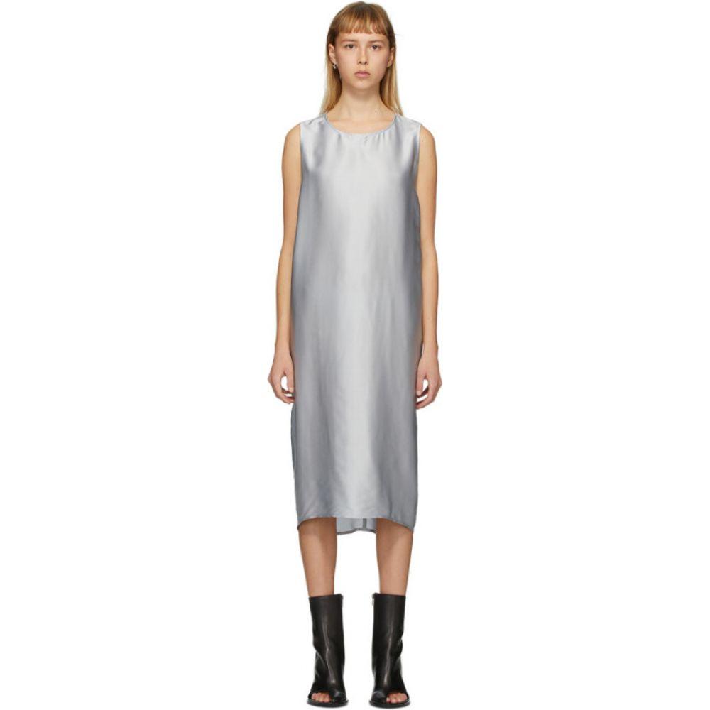 アンドゥムルメステール Ann Demeulemeester レディース ワンピース ワンピース・ドレス【SSENSE Exclusive Silver Dimness Dress】Aqua