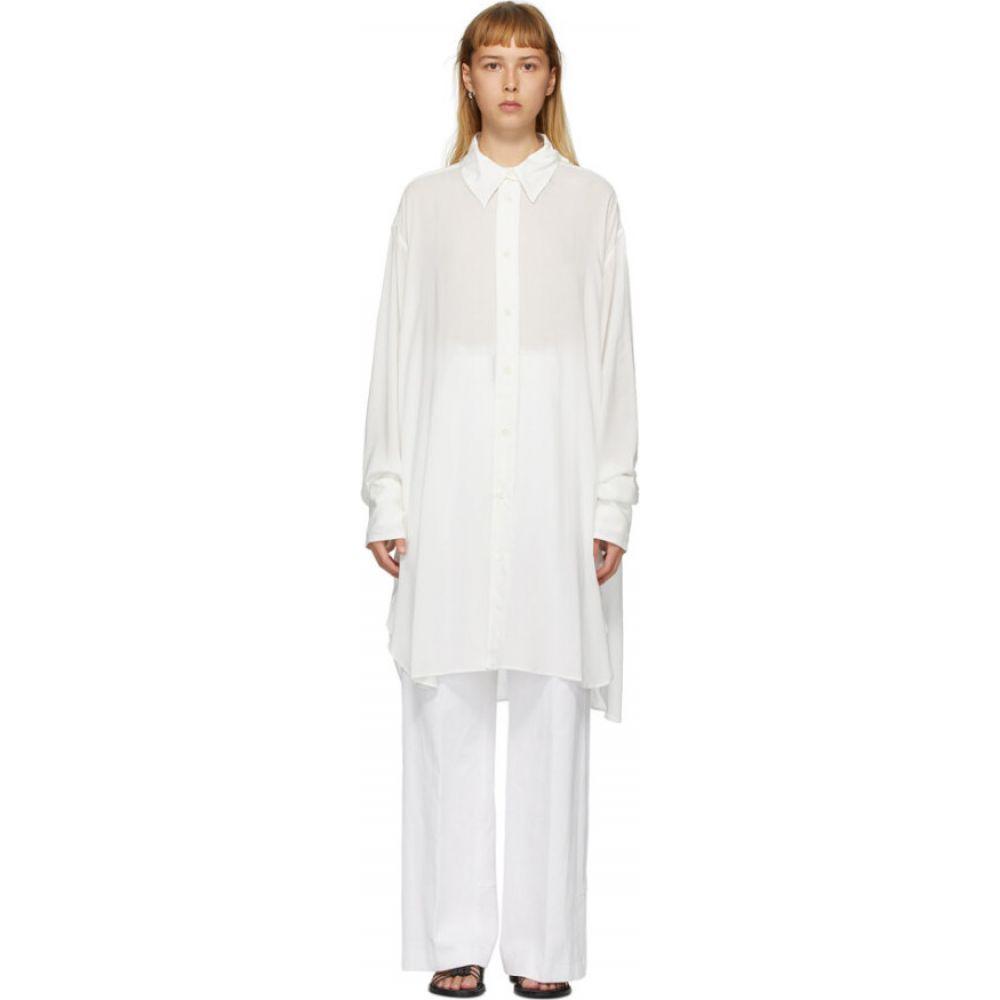 アンドゥムルメステール Ann Demeulemeester レディース ブラウス・シャツ トップス【Off-White Trilene Sheer Shirt】Off-white