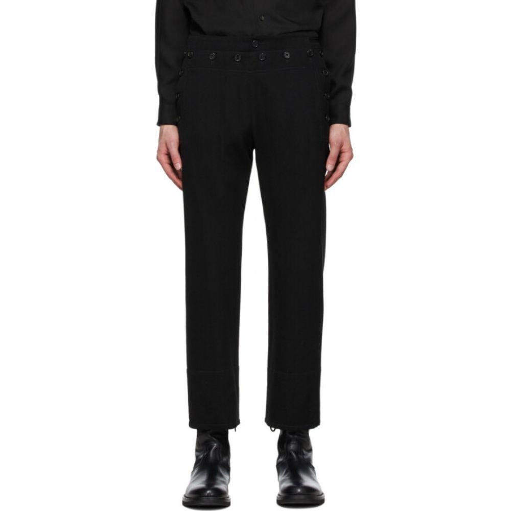 アンドゥムルメステール Ann Demeulemeester メンズ ボトムス・パンツ 【Black Sunseeker Trousers】Black/Sun