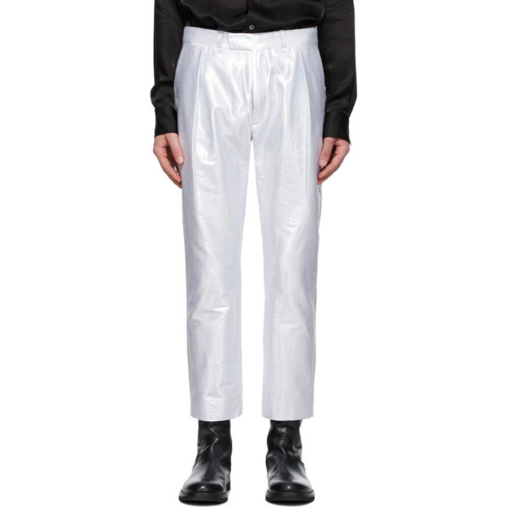 アンドゥムルメステール Ann Demeulemeester メンズ ボトムス・パンツ 【Silver Helm Trousers】Helm silver