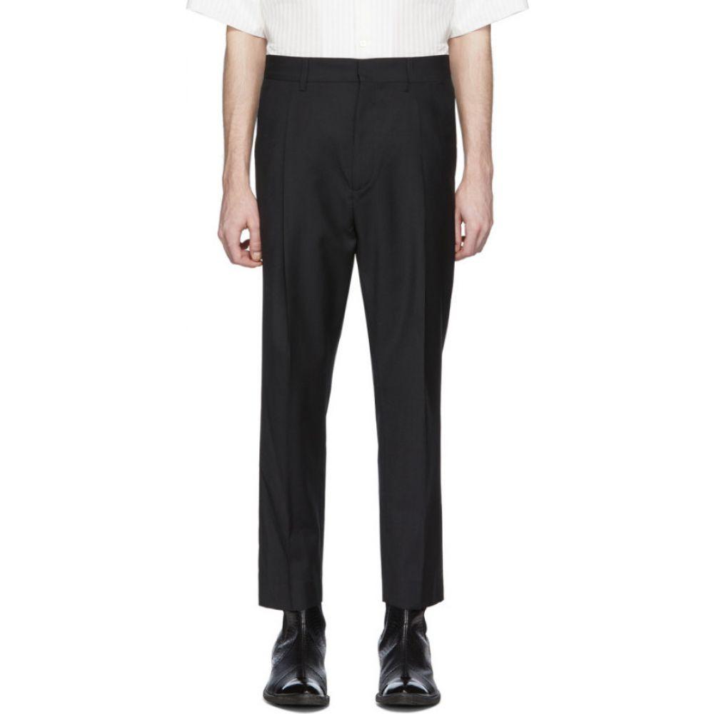 アンドゥムルメステール Ann Demeulemeester メンズ スラックス ボトムス・パンツ【Black Wool Trousers】Black