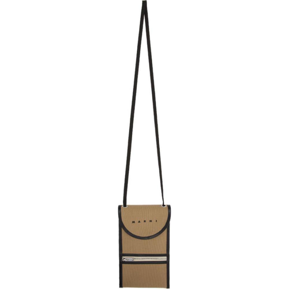 マルニ Marni メンズ ショルダーバッグ バッグ【Brown Crossbody Pouch】Cement
